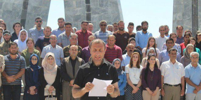 الإدارة الذاتية في إقليم الفرات تصدر بياناً في الذكرى السنوية الرابعة لمجزرة 25 حزيران التي ارتكبها داعش في مدينة كوباني