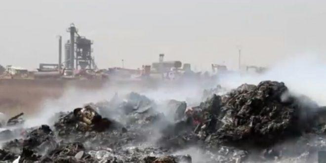 معاناة أهالي مدينة قامشلو من مشكلة تجميع النفايات و حرقها